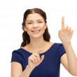 Woman with her finger up — Stock Photo #9627713
