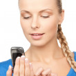 Businesswoman with cell phone — Stock Photo #9715396