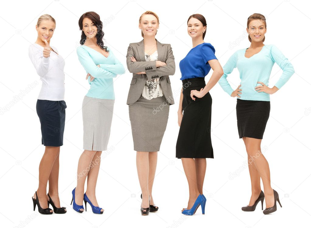 Bright picture of happy and smiling business team  Stock Photo #9715434