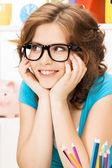 Feliz y sonriente mujer — Foto de Stock