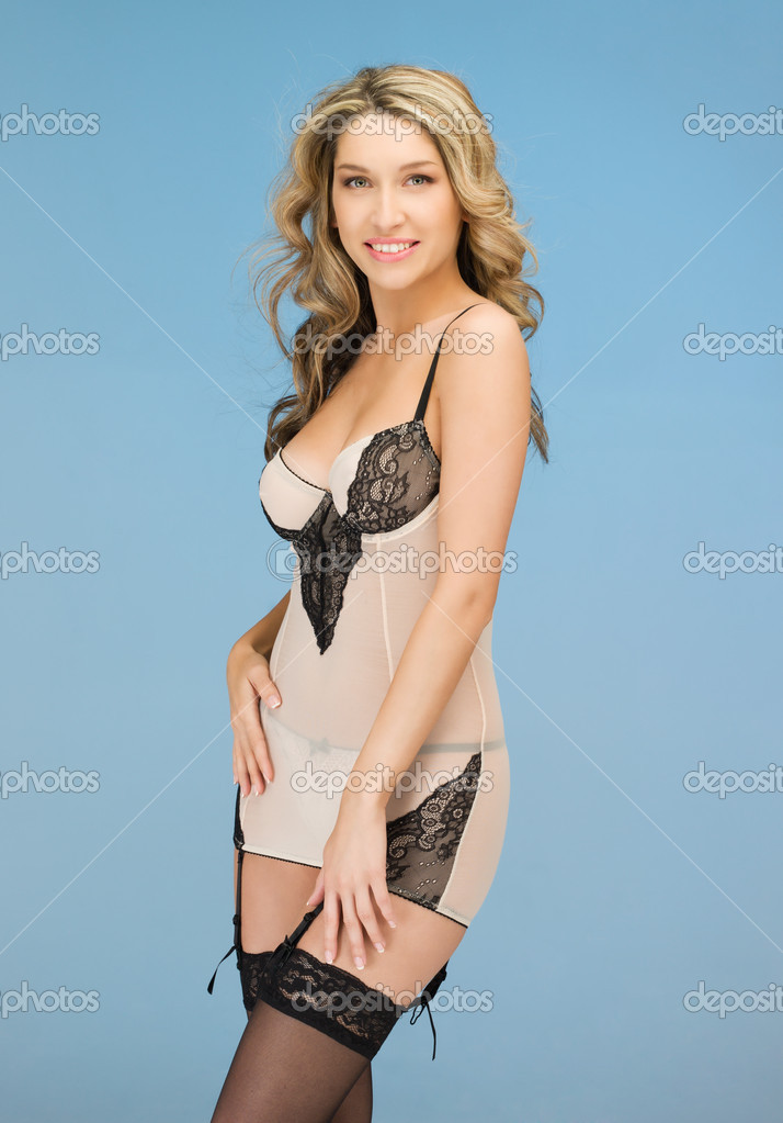 Picture of seductive woman in sexy lingerie — Stock Photo #9800576