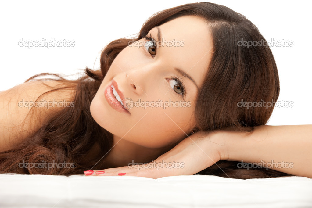 Picture of beautiful woman beautiful woman in spa salon — Stock Photo #9855499