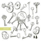 密钥集 — 图库矢量图片