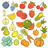 Frutas de 8 bits. — Vector de stock