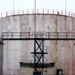 Stock Photo: Industrial Storage Tanks With Latter Access