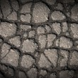 Cracks on Gray Pavement — Stock Photo