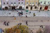Lviv at autumn, Ukraine — Stock Photo