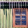 Stock Photo: Icicles which are hanging down