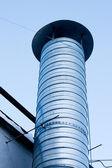 Metal ventilation chimney — Stock Photo