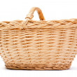 Empty basket on white background — Stock Photo #8829671