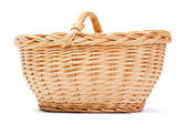 Empty basket on white background — Stock Photo