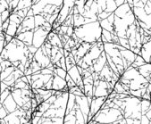 Seamless vector texture of the branches — Stock Vector