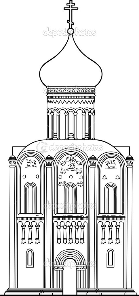 Russian Church Drawing Old Russian Orthodox Church of