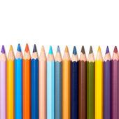 Kolory ołówek w serii na białym tle — Zdjęcie stockowe