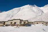 Rongbuk vilage — Stock Photo