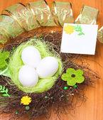 Spring greeting card — Stock Photo