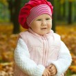Toddler in autumn — Stok fotoğraf