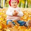 herfst kid — Stockfoto