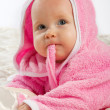 Baby on blanket — Stock Photo #8630902