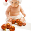 Baby in Santa hat — Stock fotografie
