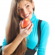 Girl with apple — Stock Photo #8631940