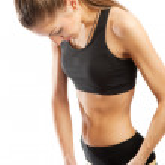 Girl measuring hips — Stock Photo #8631946