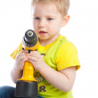 Little boy with screwdriver — Stock Photo
