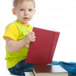 Boy with book in hands — Stock Photo #8634582