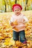 Enfant en bas âge en automne parc — Photo