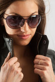 Female in sunglasses — Stockfoto