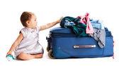Suitcase baby — Stock Photo
