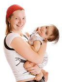 Playful mother and baby — Stock Photo