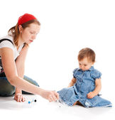 Teaching daughter — Foto Stock