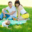 Family in park — Stock Photo #8642067