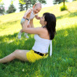 Mother with baby in park — Stock Photo #8642086