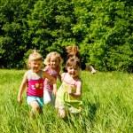 Girls running — Stock Photo #8643968