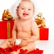 Lovely Santa baby — Stock Photo