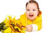 Bebé girasol — Foto de Stock