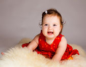 Cheerful baby girl — Stock Photo
