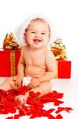 Schöne santa baby — Stockfoto