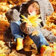 Girl in autumn park — Stock Photo