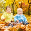 Stock Photo: Autumn kids