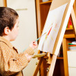 Kid painting — Stock fotografie #8657194