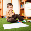 Boy with crayons — Stock Photo #8657200