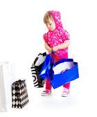 Fashionable little girl — Stock Photo