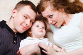 母亲、 父亲和女儿 — 图库照片
