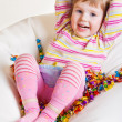 Kid with sweets — Stock Photo #8676804