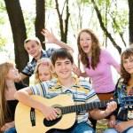 Cheerful teenagers — Stock Photo