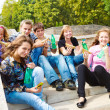 Hungry teenagers — Stock Photo