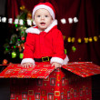 Royalty-Free Stock Photo: Baby in Christmas present box
